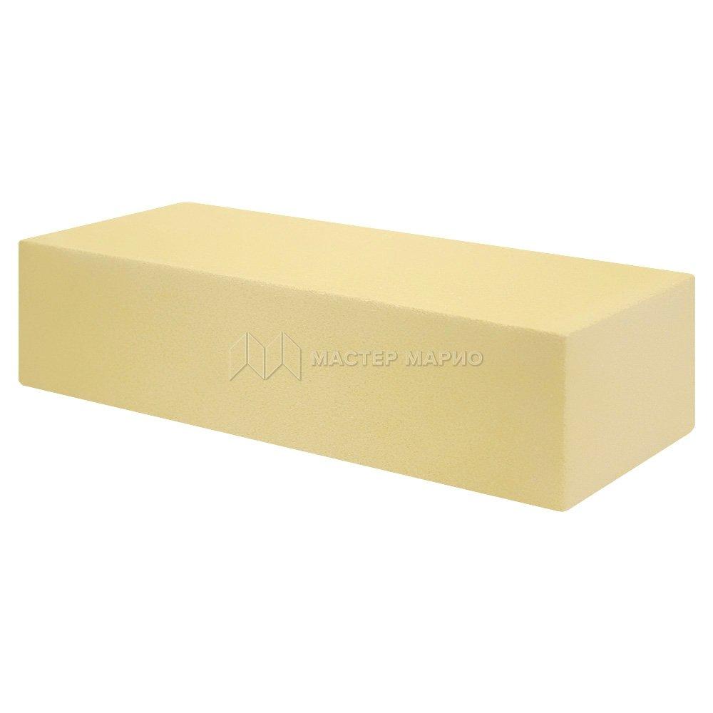 Кирпич лицевой силикатный Желтый полнотелый одинарный