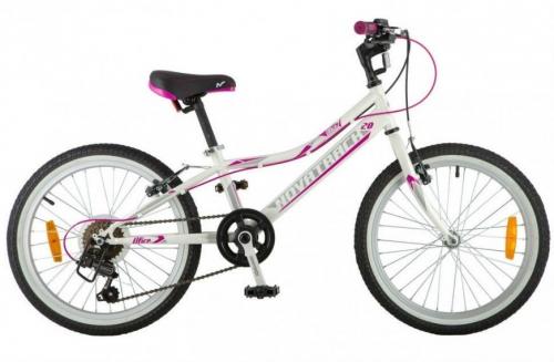Велосипед Novatrack Alice, белый, рама 20