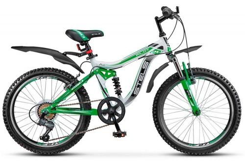 Велосипед Stels Pilot-250, белый/зеленый, рама 20