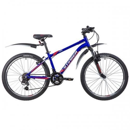 Велосипед Stinger Element, синий, рама 24