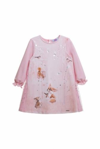 Платье для девочки светло-розовое, размер 1 (рост 86-52) Bellbimbo