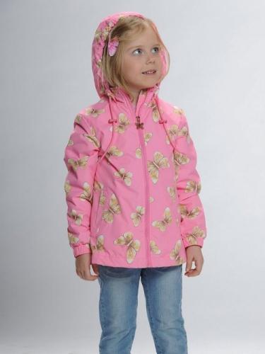 Ветровка для девочек, размер 6, розовая Pelican