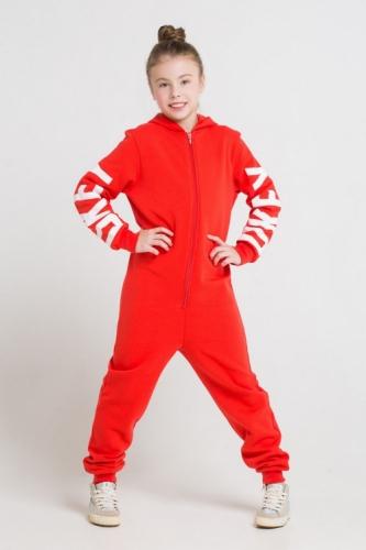 Комбинезон для девочек, Сrockid ярко-красный, размер 110