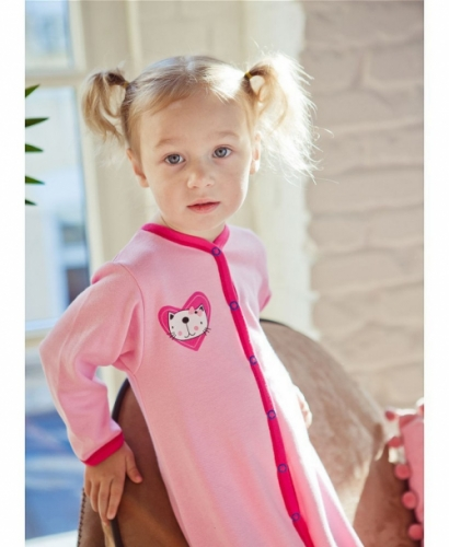 Комбинезон Lucky Child LOVE (арт. А6-103/розовый),размер 26 (80-86)