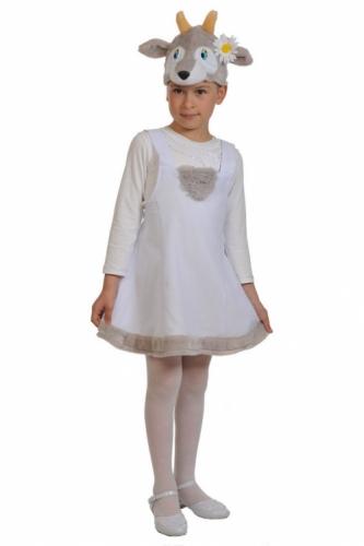 Карнавальный костюм Козочка ткань-плюш (сарафан, маска) 3-6 лет