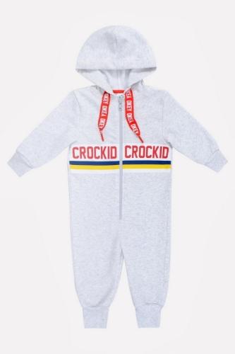 Комбинезон Сrockid светло-серый меланж, размер 134