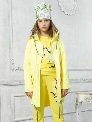 Ветровка для девочек, размер 8, желтая Pelican