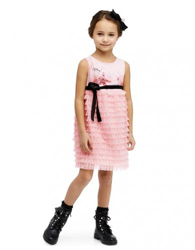 Платье для девочки, размер 4 (104-56) светло-розовое, Bellbimbo 190049