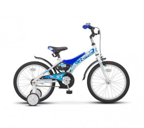 Велосипед Stels Jet, белый/синий, рама 18
