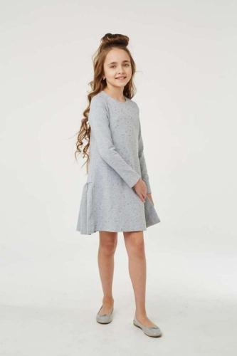 Платье для девочки размер 122, Звезды Ночной синий, УМКА