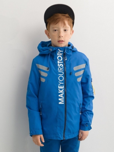 Ветровка для мальчиков, размер 14, синяя Pelican