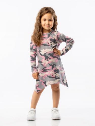 Платье для девочки BODO камуфляж, р. 28-30 (рост 98-104см), 18-53D