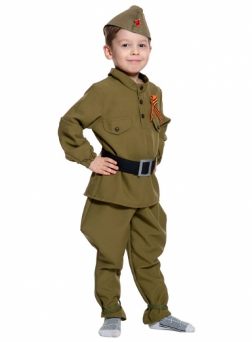 Карнавальный костюм Солдатик (без сапог), 10-12 года