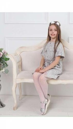 Платье-сафари для девочки Bon&Bon, серое, 10 лет