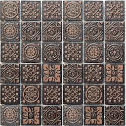 Мозаика Bonаparte Secret коричневая матовая 30.4х30.4