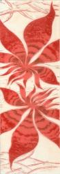Бордюр Береза-керамика Магия фантазия Фриз бордовый 35х11.5