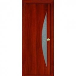 Дверное полотно Brozex-Wood остекленное модель Парус 2000x600 Итальянский орех