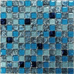 Мозаика Bonаparte Satin Blue голубая глянцевая 30x30