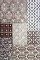 Декор Пиастрелла Бали Орнамент коричневый 20х30