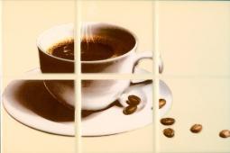 Декор Береза-керамика Руна кофе 1 бежевый 20х30