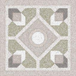 Плитка для пола Сокол Супер Гранит SG1 орнамент полуматовая 44x44