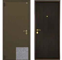 Стальная дверь Гардиан Фактор К серый/темный венге левая замок Г1201 + отверстие под 1211 980x2050 мм