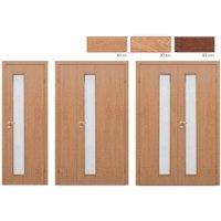 Дверное полотно Olovi L3 3D ламинат Бук М9х21