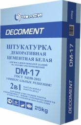 Штукатурка ЧелСи декоративная цементная белая DECOMENT DM-17 25кг