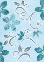 Декор La Favola Римини Цветы-1 бирюзовый 25х35