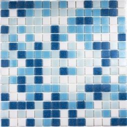 Мозаика Bonаparte Aqua 200 (на бумаге) голубая матовая 32.7х32.7