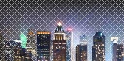 Панно Береза-керамика Колибри Город 1 графитный 25х50