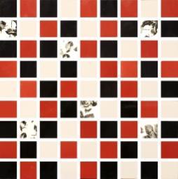 Мозаика Lasselsberger Фиорди черно-бело-красная 30х30
