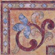 Бордюр Сокол Старый камень 431а пол орнамент глянцевый 16.5х16.5