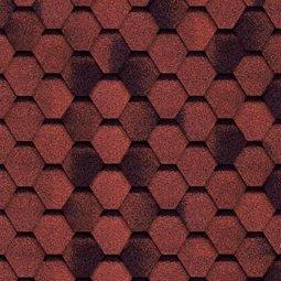 Гибкая черепица Tilercat двухслойная Прима, красная, 3 м2