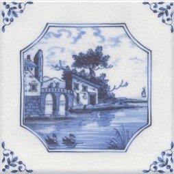 Декор Kerama Marazzi Английский Делфт Замок 5220\3F 20х20