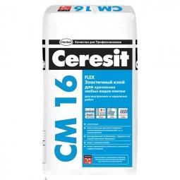 Клей Ceresit СМ16 высокоэластичный для плитки 25 кг