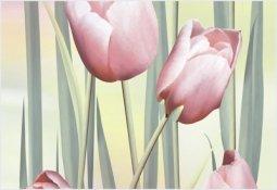 Вставка Уралкерамика Рефлекс тюльпаны ВС7РТ105 24.9x36.4