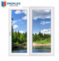 Окно раздвижное PROPLEX 2100x2000 двухстворчатое ЛР800/ПГ1200 1 стекло