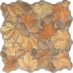 Керамогранит Oset Hojas Beige коричневый 32.5х32.5