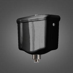 Бачок для унитаза Kerasan Retro настенный высокоуровневый черный