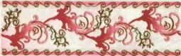 Декор Береза-керамика Магия Фриз бордовый 25х35