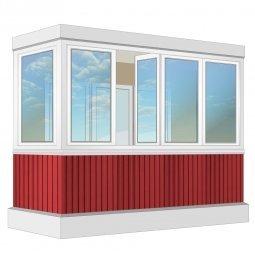 Остекление балкона ПВХ Exprof 3.2 м Г-образное