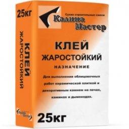 Клей для плитки Калина Мастер жаростойкий 25кг
