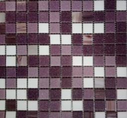 Мозаика Bonаparte Pion фиолетовая глянцевая 32.7x32.7
