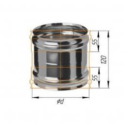 Адаптер нержавеющий Ferrum ММ 430/0.5 мм ф220 для печи