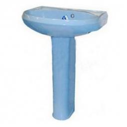 Раковина Santeri Вест с пьедесталом Вест 57.5х47х86 голубая