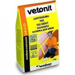 Затирка Weber.Vetonit Deco для швов до 8 мм темно-коричневый №34 (2кг)