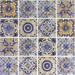 Вставка Сокол Майолика D668 орнамент матовая 33х33