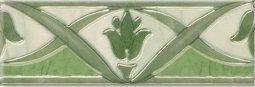 Бордюр Береза-керамика Елена зеленый 20х7