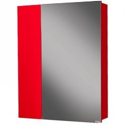 Шкаф-зеркало Домино Стайл 55 Левый/правый Красный